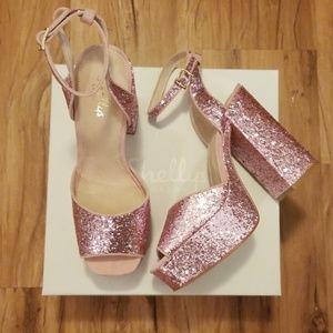 Gorgeous Shelly's London Glitter Platform Heels